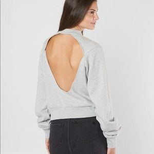 Kendall and Kylie open back sweatshirt size small